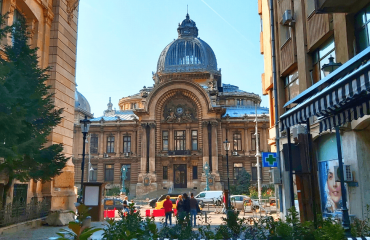 Cec Palace - one of the most important historical building in Bucharest