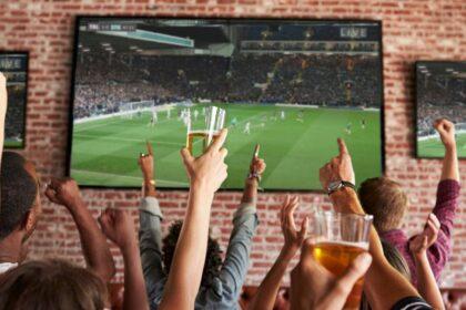 People watching Euro 2020 in Bucharest